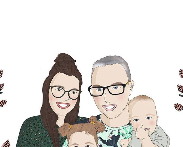 Getekend Familieportret Marjolein