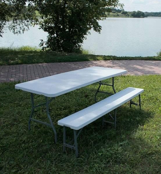 table pliante rectangulaire str180