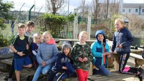 Saturday gardeners transform the school garden