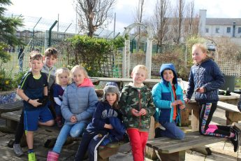 Saturday gardeners transform the school garden