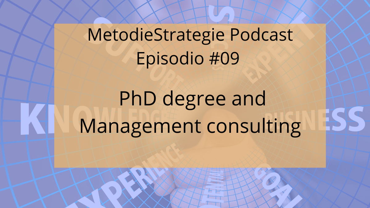 PhD and Management consulting