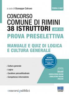 38 Istruttori Comune di Rimini (CAT. C1) - Prova preselettiva