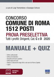 Comune di Roma 1512 posti - Prova preselettiva