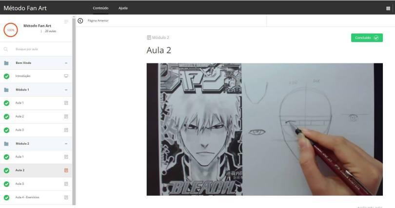 Area de Membros 0 - Como aprender a desenhar Animes - FAN ART2.0