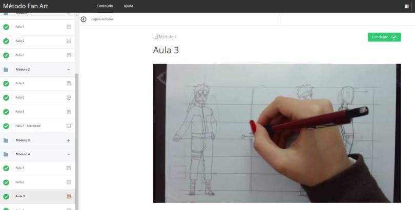Area de Membros 1 - Como aprender a desenhar Animes - FAN ART2.0