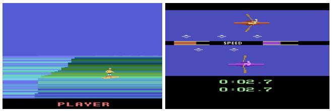 Sorprendentes y espectaculares ports del Summer Gammes (1987) y California Games (1988) para Atari 2600 (1977)