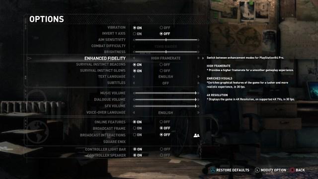 Rise of the Tomb Raider es uno de los títulos que permiten trastear con la configuración gráfica.