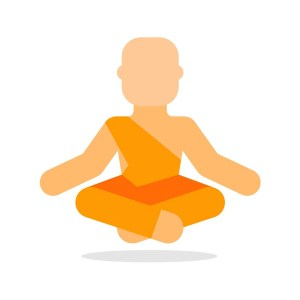 Fotolia 113744994 Subscription Monthly M - Buddhist monk icon