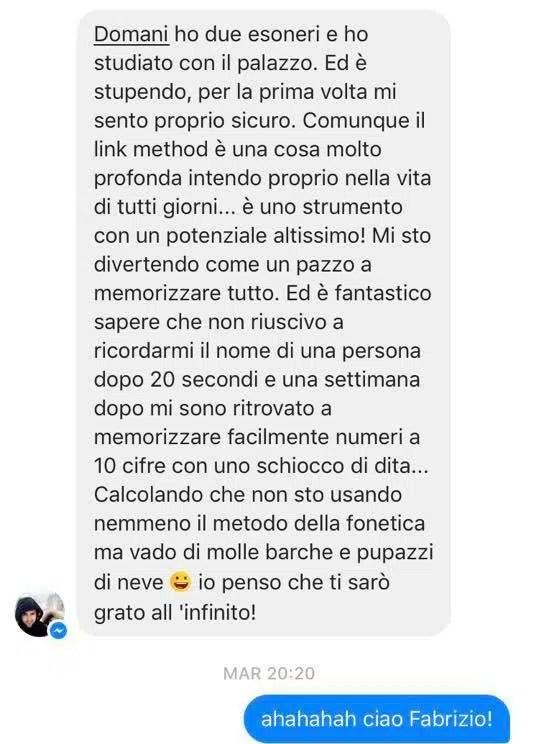 Fabrizio formichelli - Testimonianze