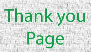 thank you page - thank you page