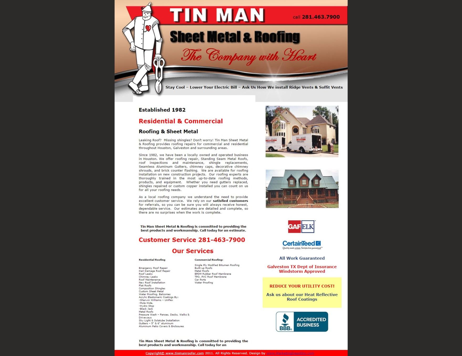 tin man sheet metal roofing metonymy marketing strategies