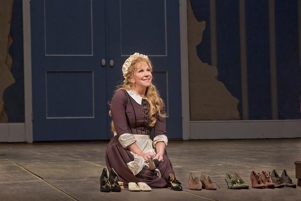 "Joyce DiDonato as Angelina in Rossini's ""La Cenerentola.""   Photo: Ken Howard/Metropolitan Opera"