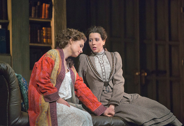 """Sophie Koch as Charlotte and Lisette Oropesa as Sophie in Massenet's """"Werther.""""  Photo: Ken Howard/Metropolitan Opera"""