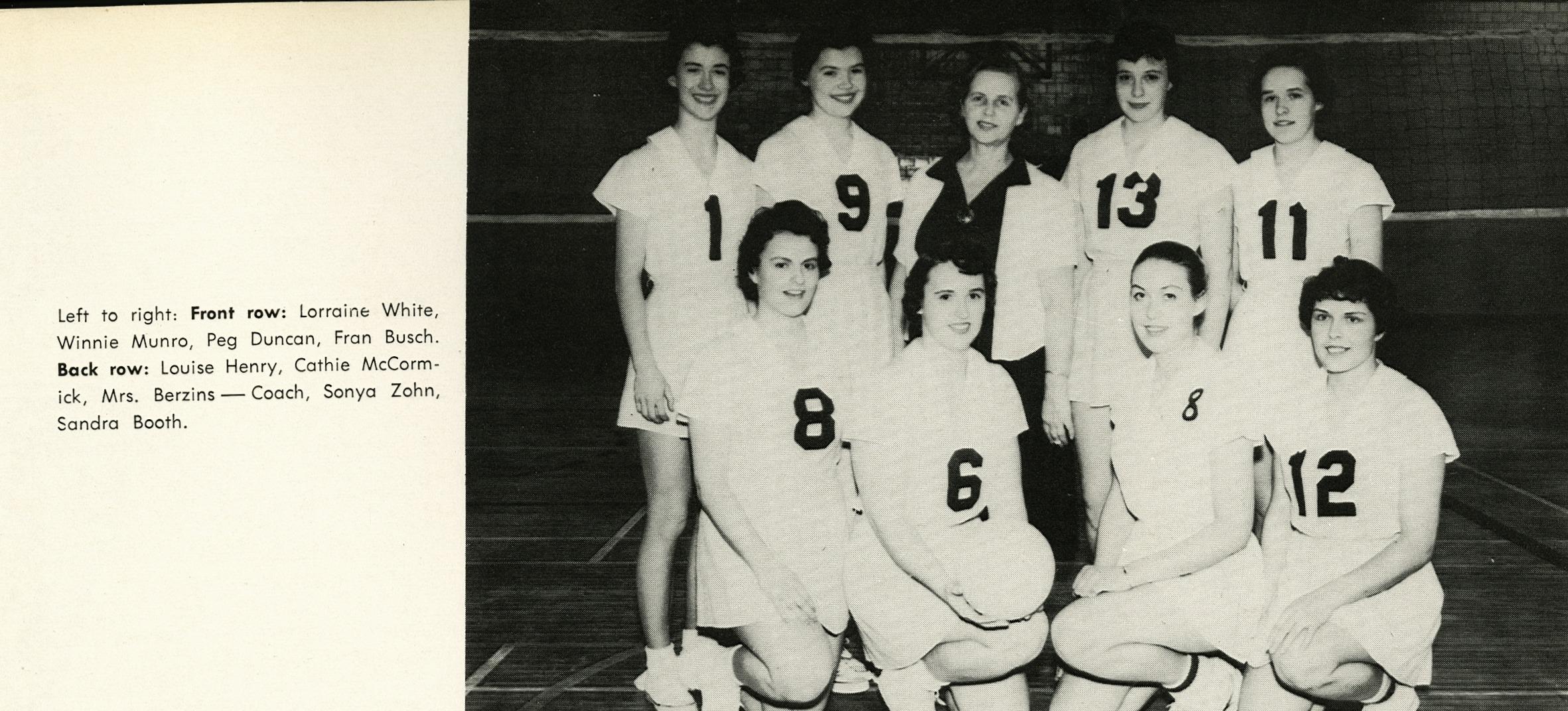 Women S Volleyball John P Metras Sports Museum