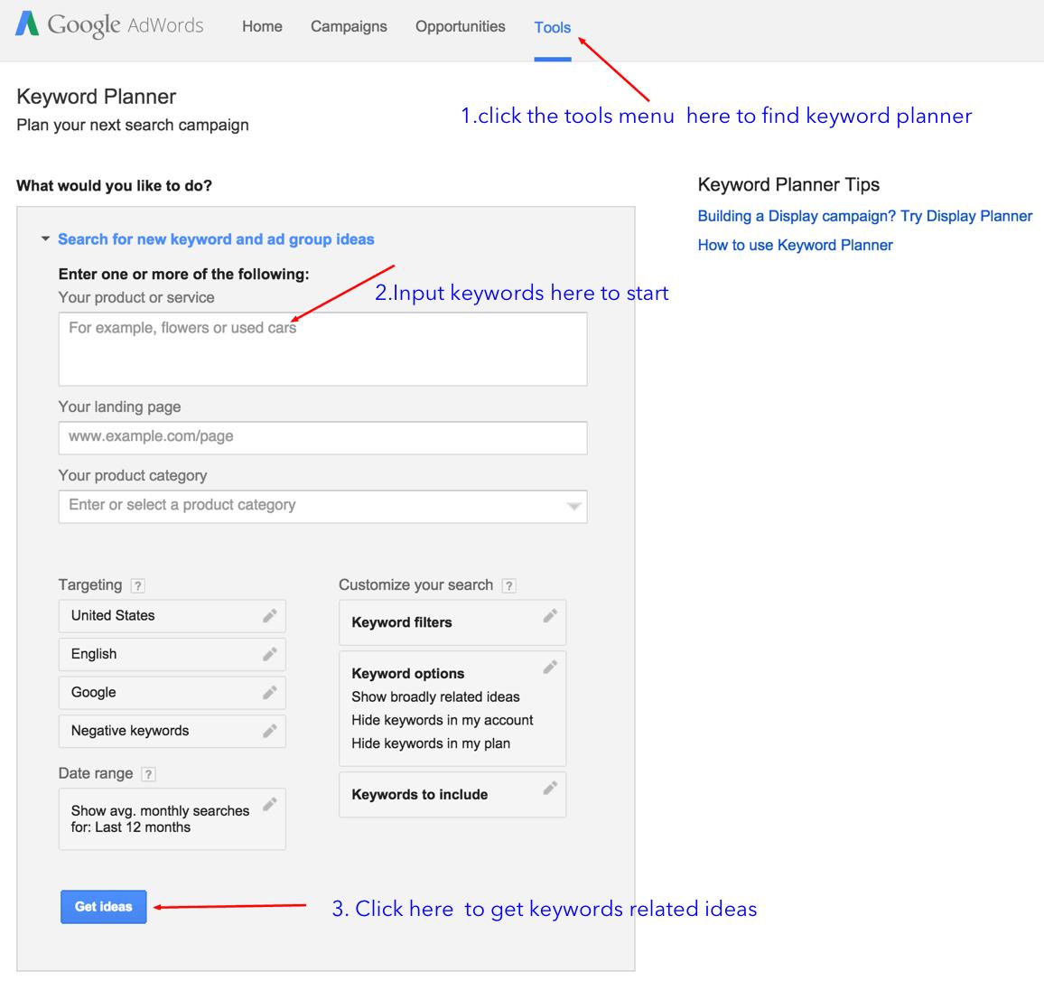 keyword research tool