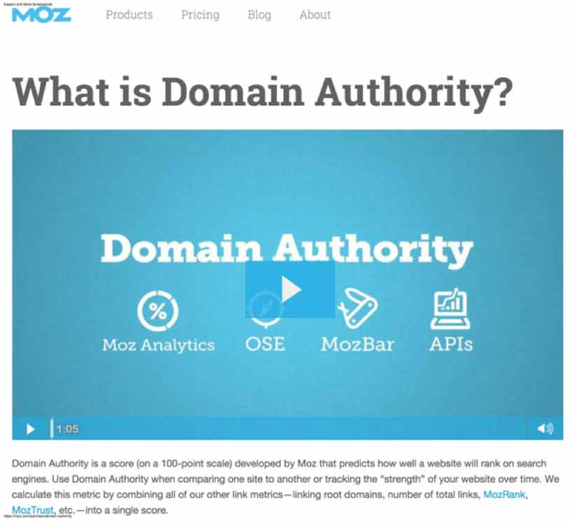 what is your domain authority score
