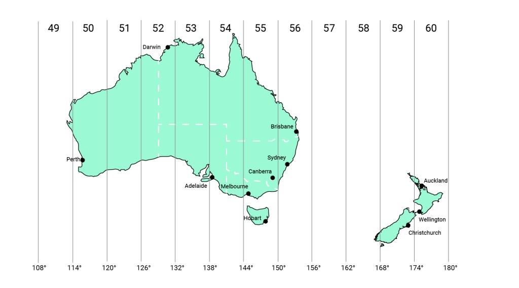 Australia & New Zealand map