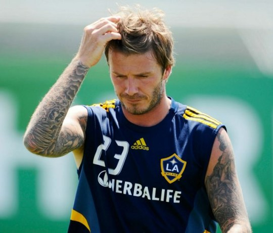 f140dcb2821 David Beckham warms up during a training session at LA Galaxy's Home Depot  Center on August