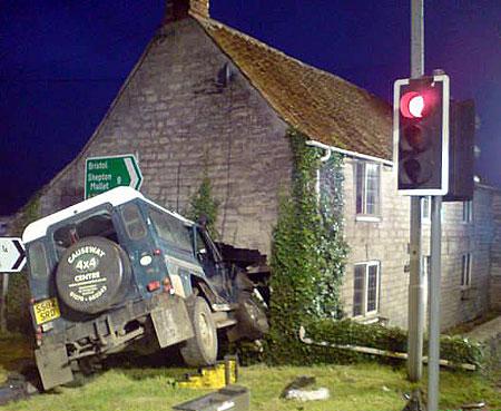 Landrover cottage crash