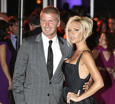 Apology: David and Victoria Beckham