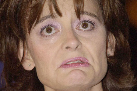 Cherie Blair cry