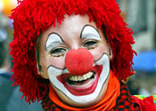 Clowns came together for a 'laugh binge'