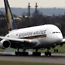 Superjumbo at Heathrow after historic flight