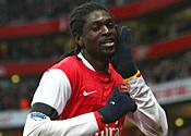 Arsenal striker Adebayor targeted by Italian giants