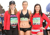 Kate Lawler runs London Marathon in pants