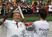 Olympic flame reaches Kazakhstan