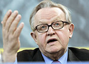 Ex-President Ahtisaari wins Nobel peace prize