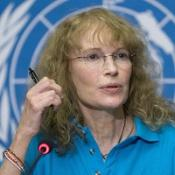 Mia Farrow appeals for action