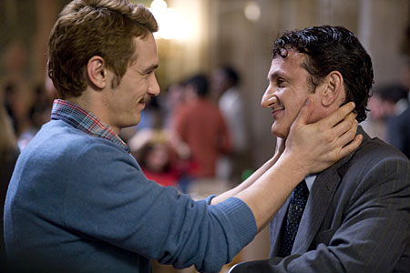 James Franco and Sean Penn star in Milk