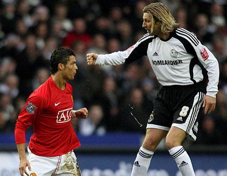 Cristiano Ronaldo and Robbie Savage