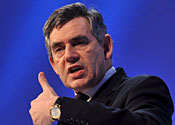 Gordon Brown has said he is sorry about emails sent by his aide Damian McBride.