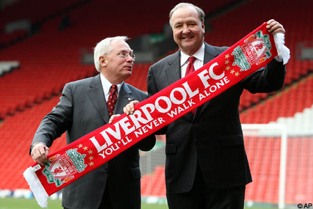 In the Red: Liverpool owners George Gillett and Tom Hicks