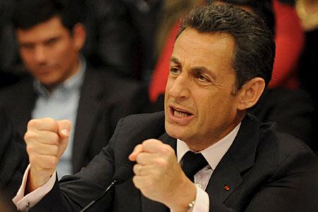 Targeted: French president Nicholas Sarkozy
