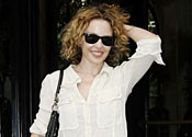 Kylie Minogue is all smiles in Paris