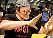 Quentin Tarantino goes a bit loco in Soho
