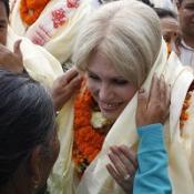 Joanna Lumley championed in Nepal