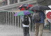 Rain storms as Hurricane Bill hits Britain