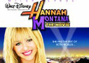 Miley sparkles in Hannah Montana: The Movie