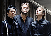 Muse's lead singer and drummer switch places on Italian TV