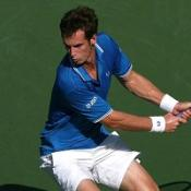 Murray through despite blip