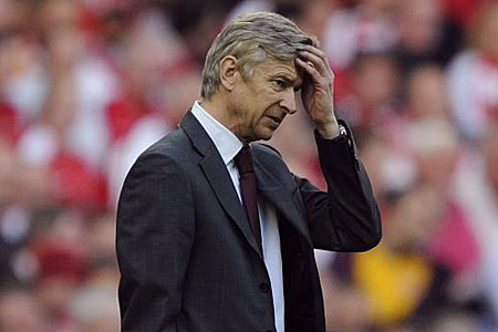 Pressure is growing on Wenger after five years without a trophy