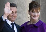 Carla Bruni with husband Nicolas Sarkozy.