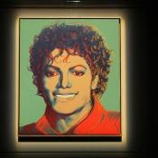 Andy Warhol's, (Green) Michael Jackson portrait will be auctioned