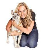 Leona Lewis and her dog, Misty, a Stafford Bull Terrier cross