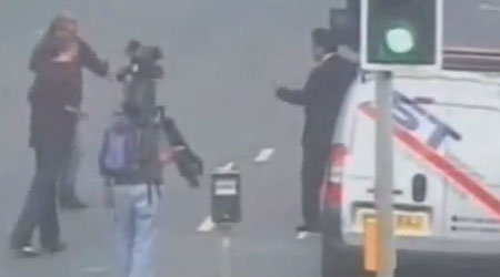 Take that: BBC reporter Paresh Patel defends himself against yobs