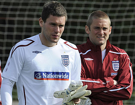 England ambitions: Foster, left, is battling it out with Rob Green